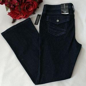 a.n.a Dark Rinse Denim Bootcut Jeans Stretch 14P